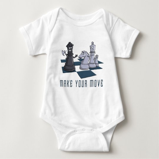 chess, make A move Baby Bodysuit