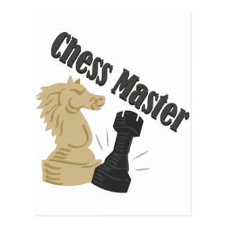Chess Master Postcard