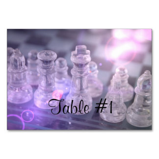 Chess Master Table Card