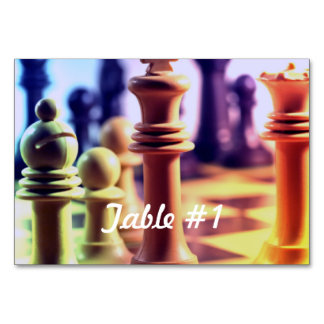 Chess Master Table Cards