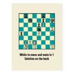 Chess Mate In 1 Puzzle #1 Postcard