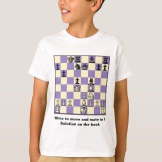 Chess Mate In 1 Puzzle #2 T-Shirt
