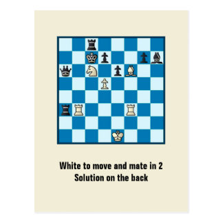 Chess Mate In 2 Puzzle #1 Postcard