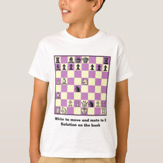 Chess Mate In 2 Puzzle #3 T-Shirt