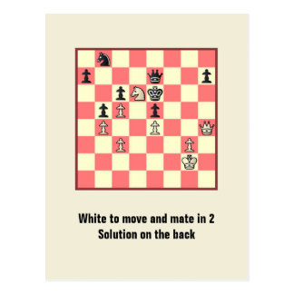 Chess Mate In 2 Puzzle #4 Postcard