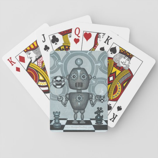 Chess-Mate Robot Playing Cards