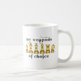 chess, my weapon of choice basic white mug