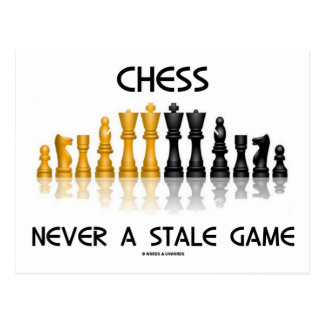 Chess Never A Stale Game (Reflective Chess Set) Postcard