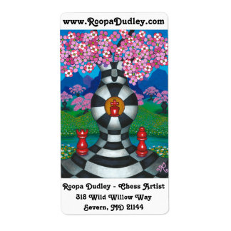 Chess-Nut Paradise Shipping Label