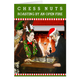 Chess Nuts Christmas Card
