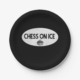 Chess on Ice Curling Paper Plate