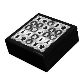 Chess Pattern Large Square Gift Box