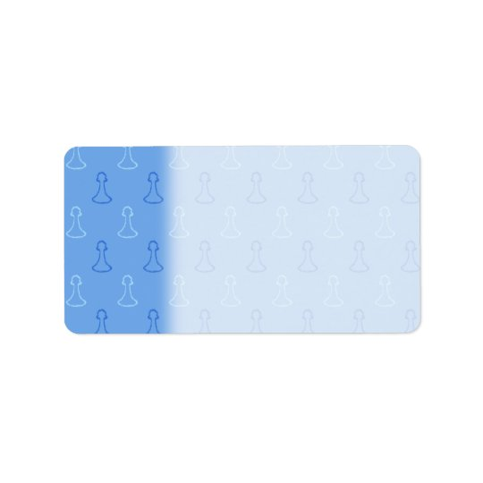Chess Pattern in Blue. Address Label