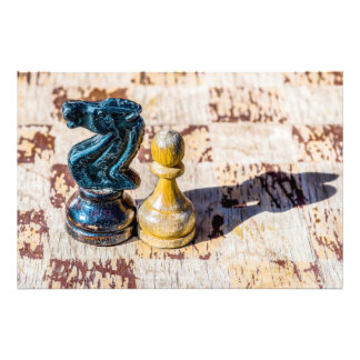 Chess Pawn and Knight - Veterans Photo Print