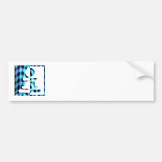 Chess Pawn Design Bumper Sticker