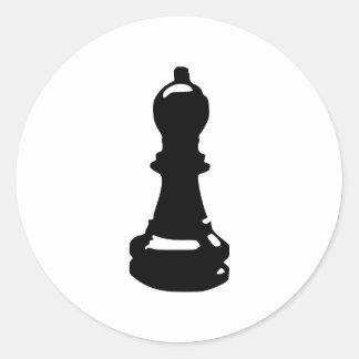 Chess - Pawn Round Sticker