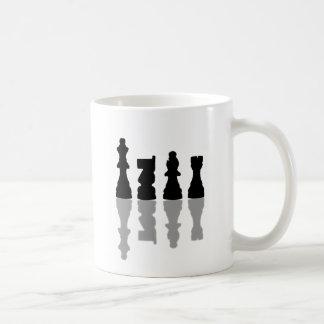 Chess peices reflection coffee mug