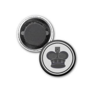 Chess Piece Black King 3 Cm Round Magnet