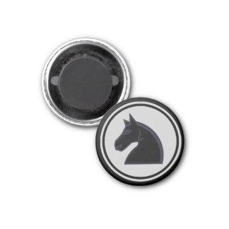 Chess Piece Black Knight Fridge Magnets