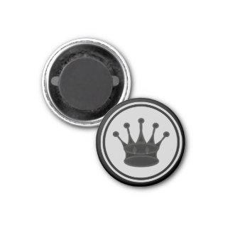 Chess Piece Black Queen 3 Cm Round Magnet