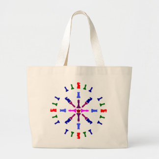 Chess Piece Design Large Tote Bag