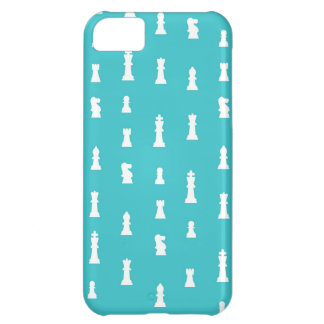 Chess piece pattern - teal blue iPhone 5C covers