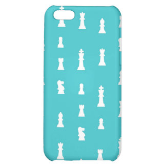 Chess piece pattern - teal blue iPhone 5C cover