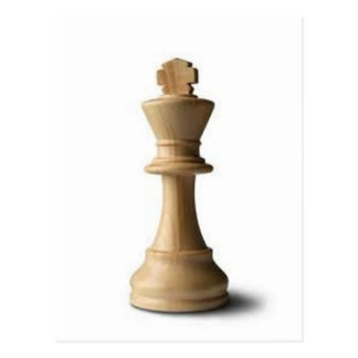 Chess Piece Postcard