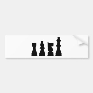 Chess piece silhouette design bumper sticker