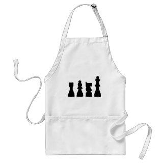 Chess piece silhouette design standard apron