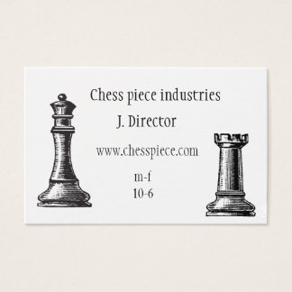 Chess piece themed business card