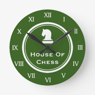 Chess piece wall clock with custom quote or saying