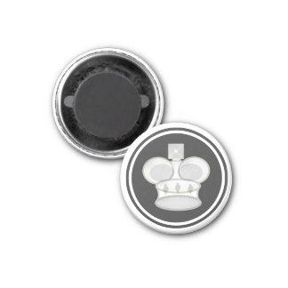 Chess Piece White King 3 Cm Round Magnet