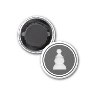 Chess Piece White Pawn 3 Cm Round Magnet