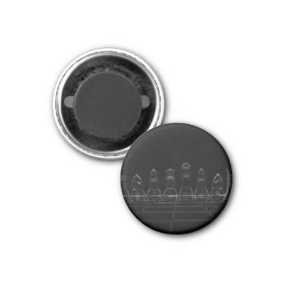 Chess pieces 3 cm round magnet