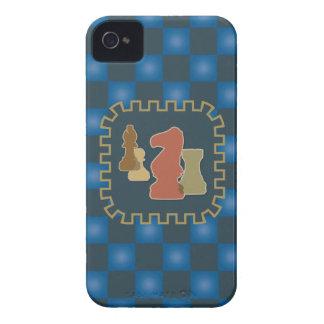 Chess Pieces Blue Blackberry Case