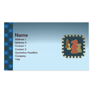 Chess Pieces Blue Business Card