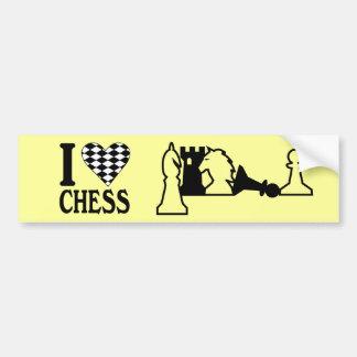 Chess Pieces Bumper Sticker Car Bumper Sticker