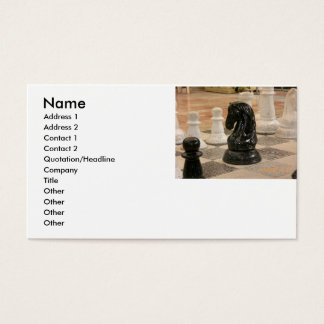 Chess pieces business card