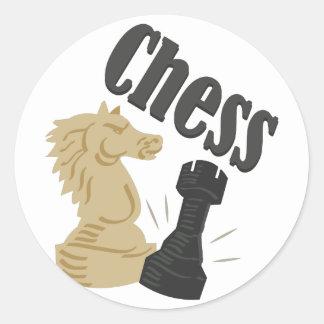 Chess Pieces Classic Round Sticker