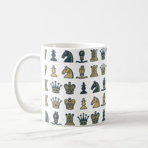 Chess Pieces in Rows Mug
