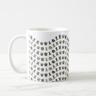 Chess Pieces in Waves Mug