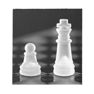 Chess pieces memo pad