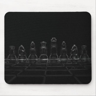 Chess pieces mouse mat