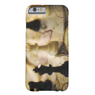 Chess pieces on old world map barely there iPhone 6 case