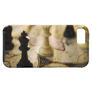 Chess pieces on old world map case for the iPhone 5