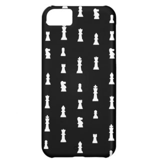 Chess pieces pattern - black and white iPhone 5C case
