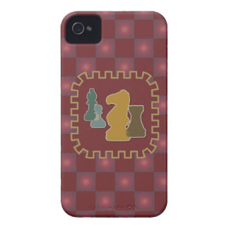 Chess Pieces Red Blackberry Case