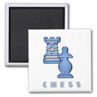 Chess Pieces Square Magnet Magnet