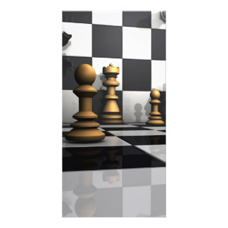 Chess Play King Customized Photo Card